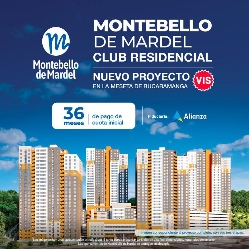 Montebello apartamentos VIS Bucaramanga, zona social, Constructora Mardel